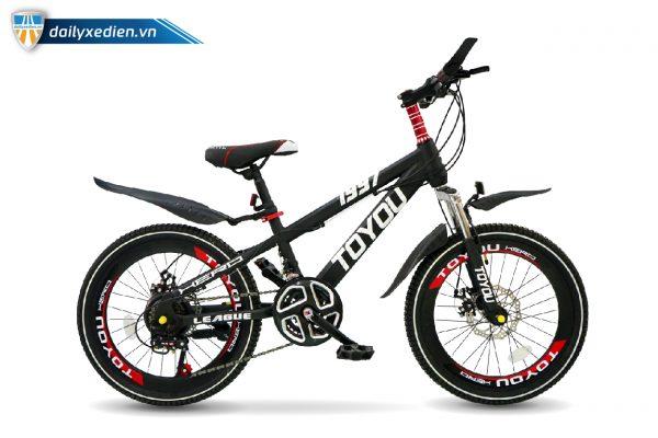 ToYou 1997 den 7lip banh20 XDTE chitiet 02 600x400 - Xe đạp thể thao trẻ em Toyou 7 líp - bánh 20
