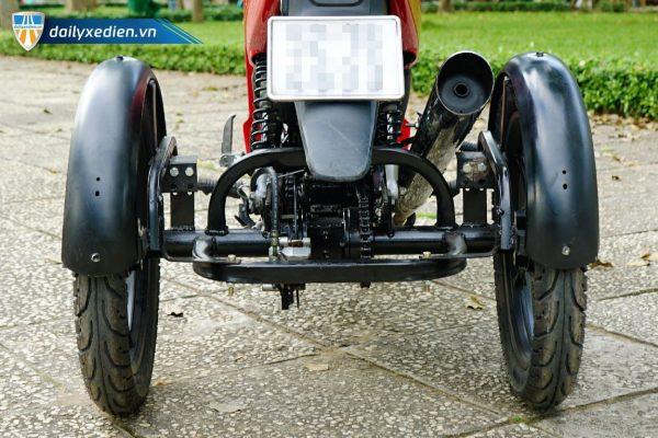 BABANHTUCHE Wave chitiet 01 04 600x400 - Xe máy 3 bánh tự chế (Wave 110cc)
