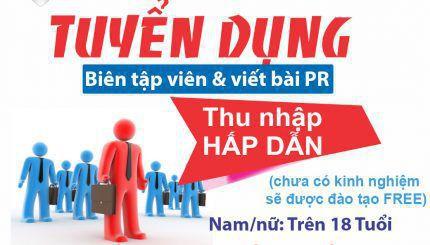 NHAN VIEN BIEN TAP VIEN VIET BAI 430x245 - Tuyển dụng nhân viên biên tập và viết bài Marketing