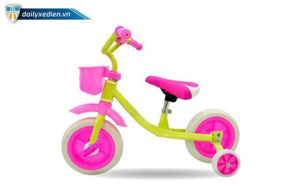 xe bon banh xanhhong 03 600x400 - Xe đạp trẻ em Mini Kute