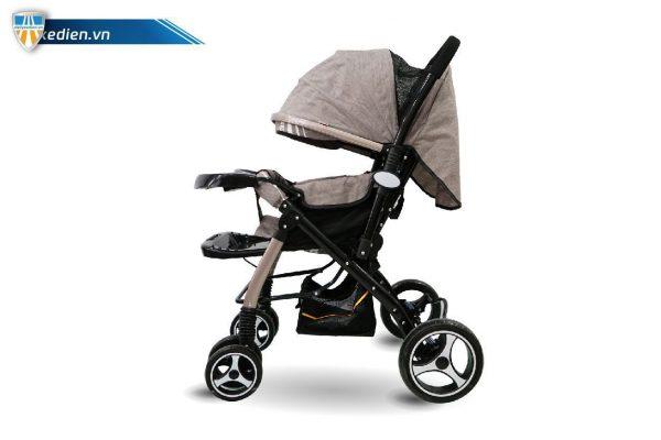 xe noi day mau nau nhat sp2 05 600x400 - Xe đẩy trẻ em có mái che màu xám