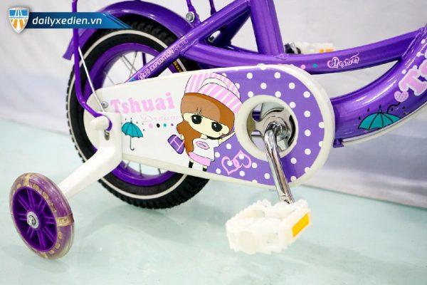 Xe dap Tshuai banh 12 mau tim ct4 08 600x400 - Xe đạp Tshuai bánh 12 - Màu tím