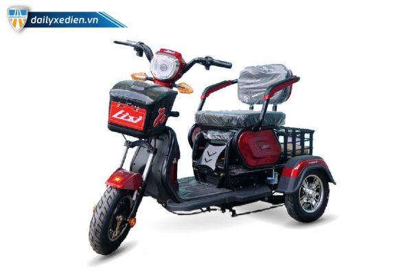 Xe ba banh dien LiXi Hyuba 01 03 600x400 - Xe điện 3 bánh LiXi HyuBa