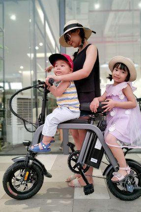3 ghe 02 - Xe đạp điện Mini 3 yên
