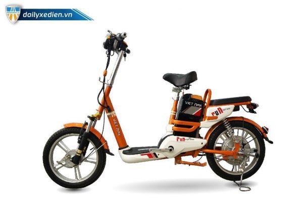XE DAP DIEN VIETMAX RUN CAM dailyxedien.vn 2 600x400 - Xe đạp điện thanh lý Vietmax Run - Màu cam