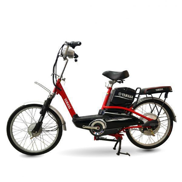 XE DAP DIEN YAMAHA ICAT8 DO 01 600x600 - Xe đạp điện thanh lý Yamaha Icats - Màu đỏ