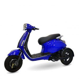 xe dien ba banh vespa mau xanh 01 300x300 - Xe máy điện 3 bánh Vespa - Màu Xanh