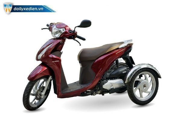 Xe ba banh Vision moi Sp 02 600x400 - Xe 3 bánh Vision tự chế Việt Nhật - Visai + Bộ Số Tiến/Lùi Bằng Điện