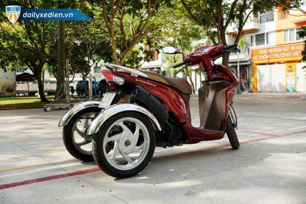 Xe ba banh Vision moi Sp 07 600x400 - Xe 3 bánh Vision tự chế Việt Nhật - Visai + Bộ Số Tiến/Lùi Bằng Điện