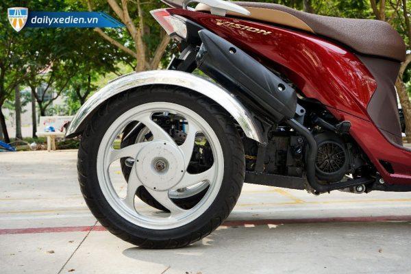 Xe ba banh Vision moi Sp 15 600x400 - Xe 3 bánh Vision tự chế Việt Nhật - Visai + Bộ Số Tiến/Lùi Bằng Điện