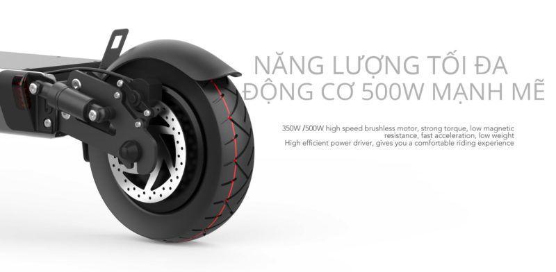 Dong co 500w manh me 800x392 - Xe điện gấp gọn Homesheel FTN S1