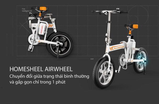 Homesheel airwheel 10 608x400 - Xe điện gấp gọn Homesheel Airwheel R5