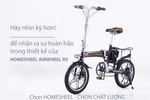 Homesheel airwheel 26 600x400 - Xe điện gấp gọn Homesheel Airwheel R5
