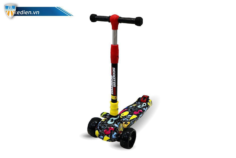 xe scooter 05 - Xe trẻ em Scooter mẫu mới có đèn & nhạc