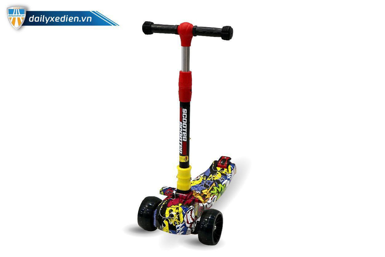 xe scooter 07 - Xe trẻ em Scooter mẫu mới có đèn & nhạc