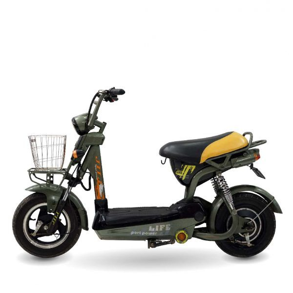 xe dap dien jili xanh cu ct 01 600x600 - Xe đạp điện Jili cũ - Xanh quân đội