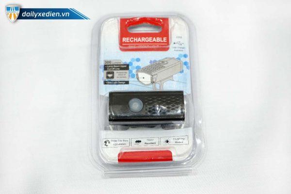 Den sac xe dap RECHARGEABLE 05 600x400 - Đèn sạc xe đạp Rechargeable